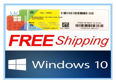 Chiny Microsoft Windows 10 Product Key Pro 64 Bit / Windows 10 OEM Key Pro fabryka
